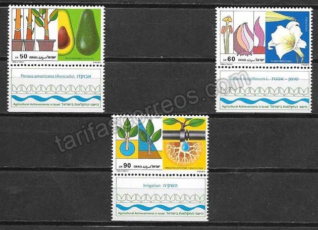 enviar paquetes desde - valor sellos flora Israel 1988