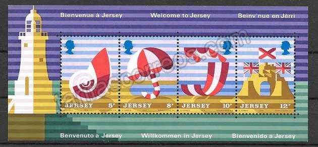 valor y precio Colección sellos Jersey-1975-01
