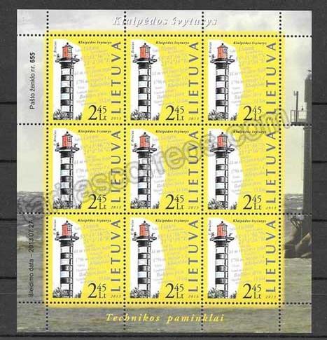 enviar paquetes desde - valor sellos  Lituania-2013-01