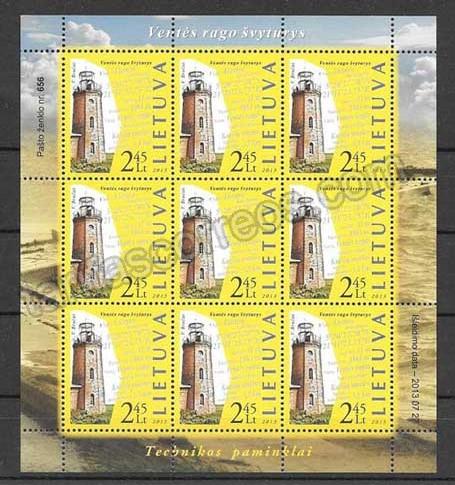 enviar paquetes desde - valor sellos Lituania-2013-02