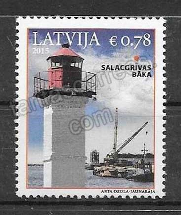 enviar paquetes desde - valor sellos faros Letonia 2015