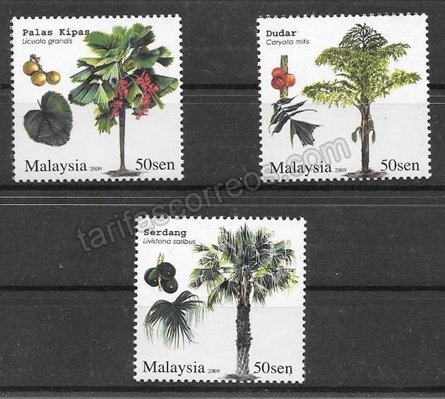 comprar Estampillas flora Malasia 2009