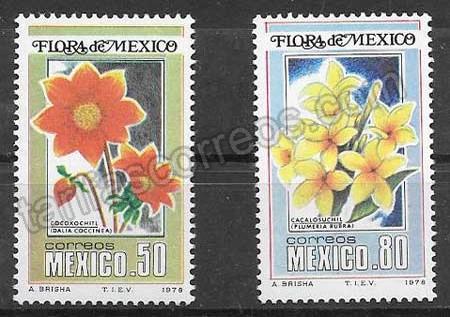enviar paquetes desde - valor sellos colección flora México 1978