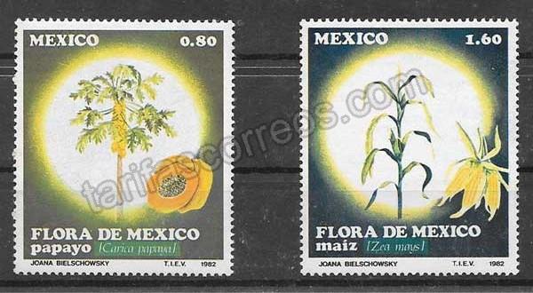 valor y precio Colección sellos flora México 1982