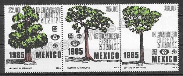 Filatelia flora 1985 México