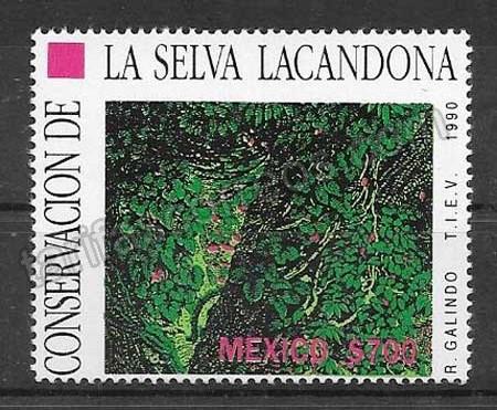 enviar paquetes desde - valor sellos flora México 1990