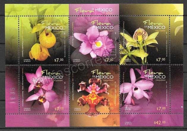 Filatelia  Sellos flores de méxico
