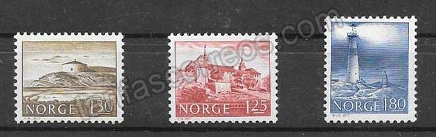 enviar paquetes desde - valor sellos faros Noruega 1977
