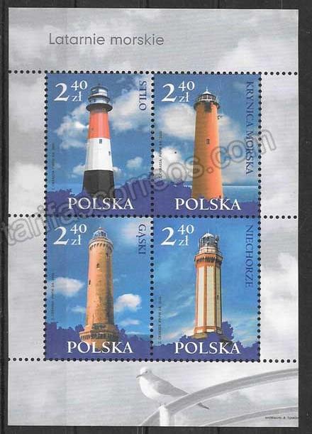 valor y precio Colección sellos Polonia faros 2006