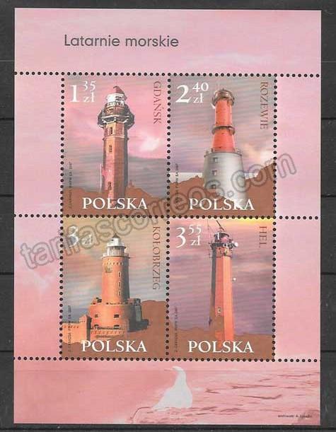 valor y precio Colección sellos faros Polonia 2007