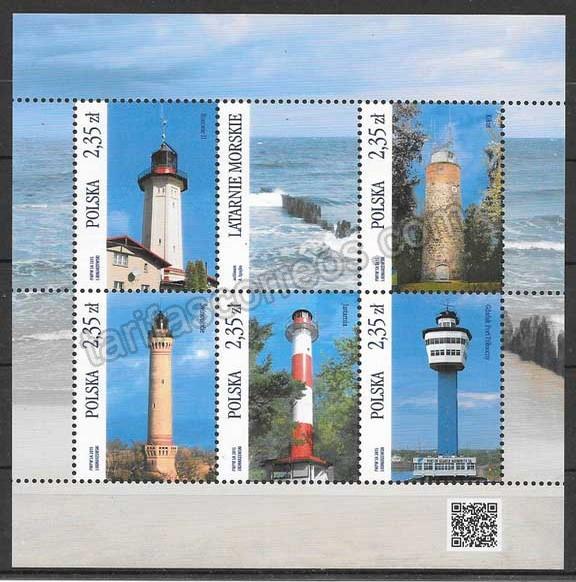 enviar paquetes desde - valor sellos faros Polonia 2015