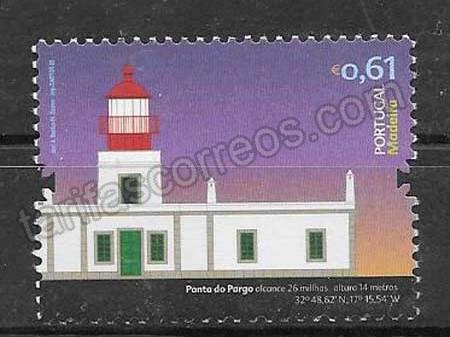 enviar paquetes desde - valor sellos faros Portugal Madeira 2008
