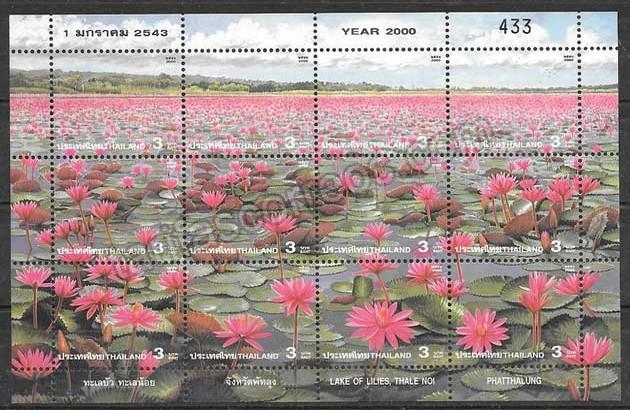enviar paquetes desde - valor sellos colección flora Tailandia 2000