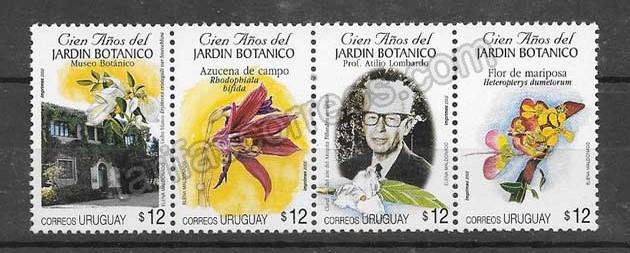 Filatelia  Sellos centenario del jardín botánico