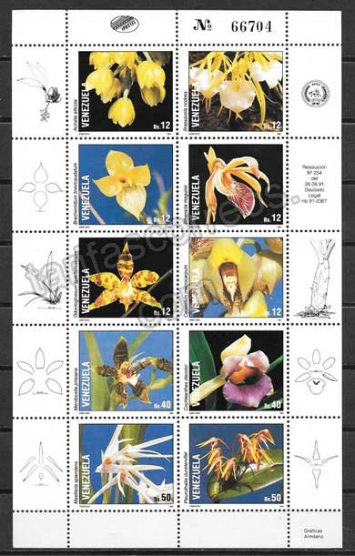 enviar paquetes desde - valor sellos Venezuela-1991-01