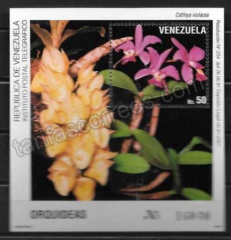 enviar paquetes desde - valor sellos Venezuela-1991-02