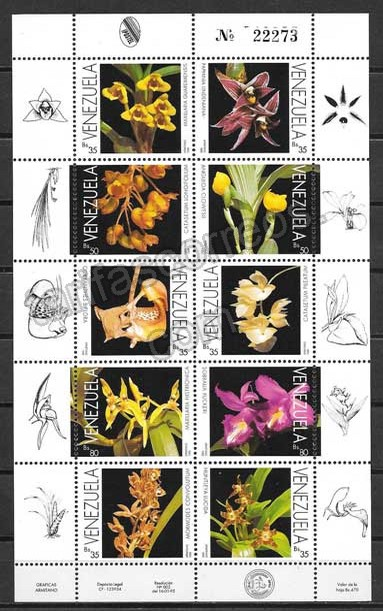 enviar paquetes desde - valor sellos Venezuela-1995-01