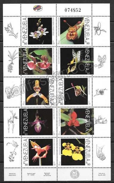 valor y precio Colección Sellos Venezuela-1996-01