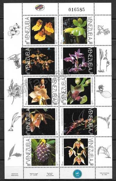 Filatelia sellos Venezuela-1998-01