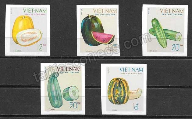 enviar paquetes desde - valor sellos flora Viet Nam 1970