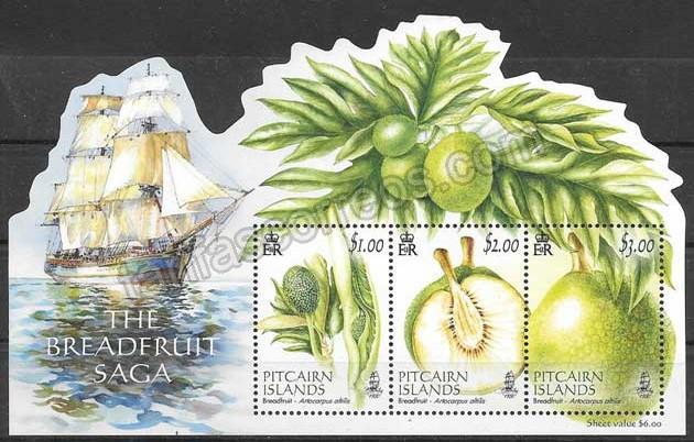 enviar paquetes desde - valor sellos flora Pitcair 2016