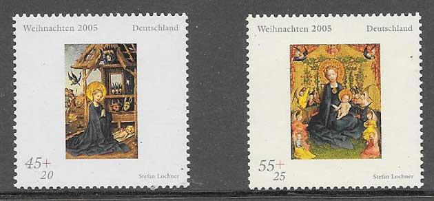 enviar paquetes desde - valor sellos navidad Alemania 2005