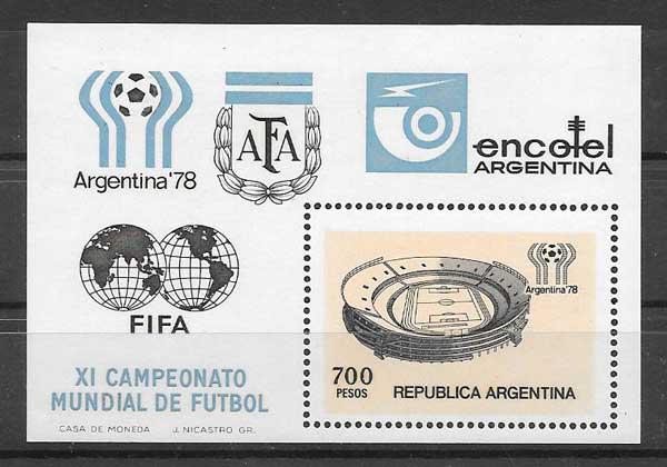 Filatelia Fútbol Argentina 1978