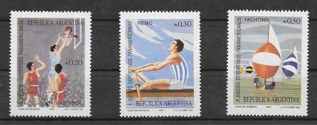 Filatelia Juegos Argentina 1987