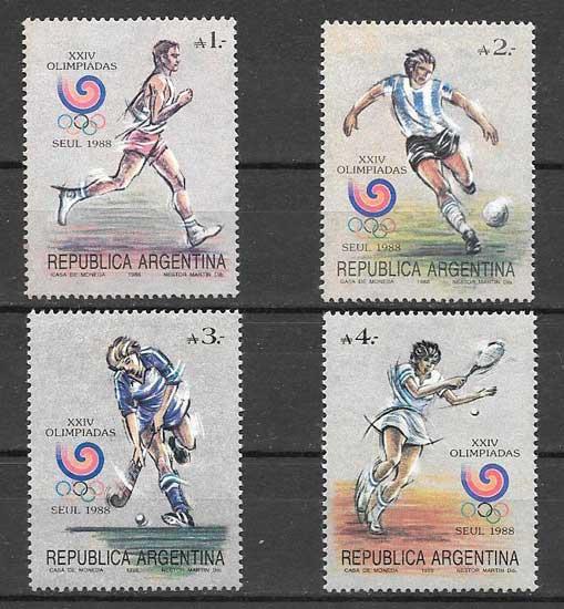 Filatelia Olimpiadas 1988- Argentina