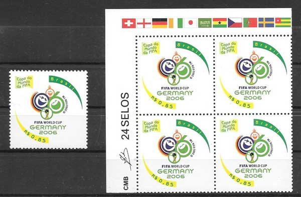 enviar paquetes desde - valor sellos Brasil-2006-01