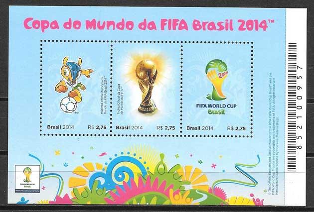 enviar paquetes desde - valor sellos deporte Brasil 2014