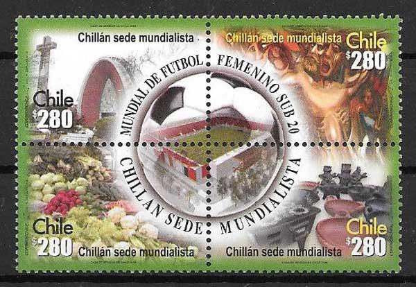 enviar paquetes desde - valor sellos Filatelia deporte Chile 2008