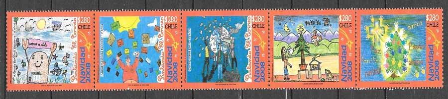 valor y precio Colección sellos navidad 2008