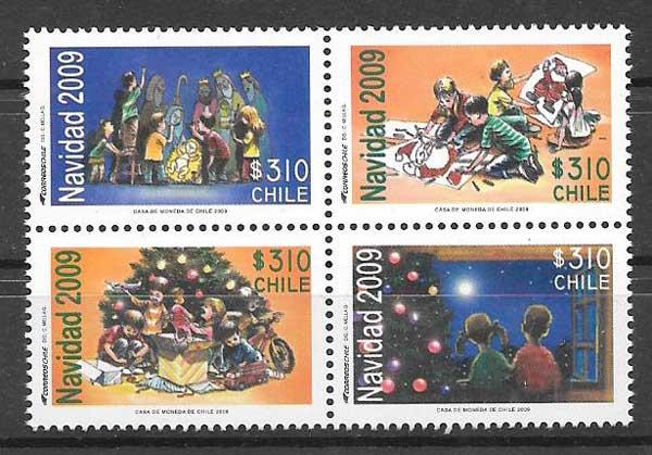 enviar paquetes desde - valor sellos navidad 2009 Chile