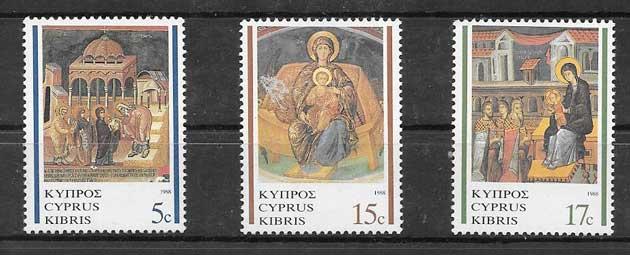 enviar paquetes desde - valor sellos Pinturas Chipre 1988