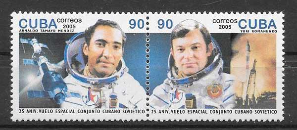 enviar paquetes desde - valor sellos grandes astronautoas cubano y ruso
