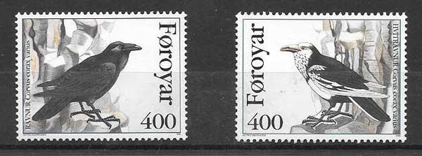 valor y precio Colección sellos fauna - cuervos Feroe 1995