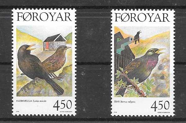 valor y precio Colección sellos fauna aves sedentarios
