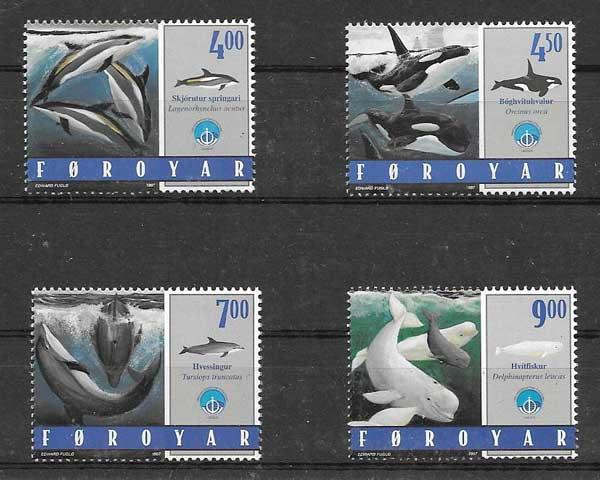 valor y precio Colección sellos fauna marina Feroe 1998