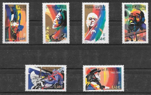 enviar paquetes desde - valor sellos Francia personalidades 2002