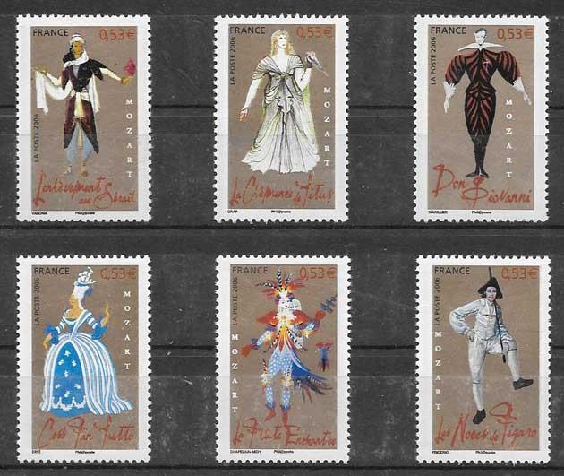 enviar paquetes desde - valor sellos Francia personalidades 2006