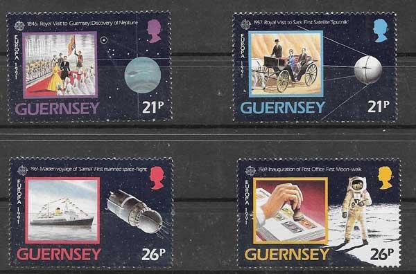 Selos colección Tema Europa 1991