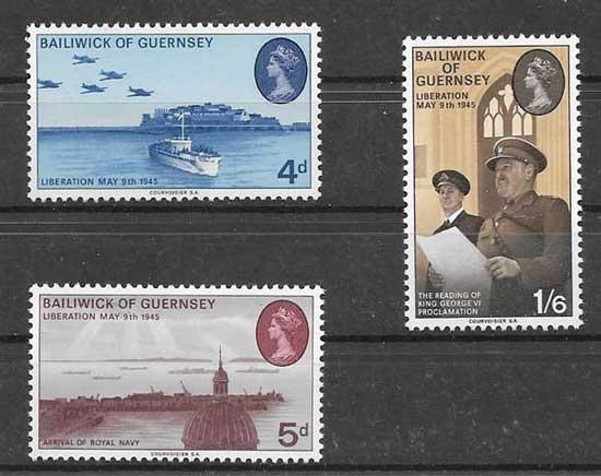 enviar paquetes desde - valor sellos diversidad de transporte Guersey 1970