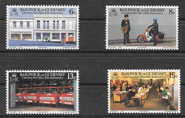 valor y precio Colección sellos Servicio postal Guersey 1979