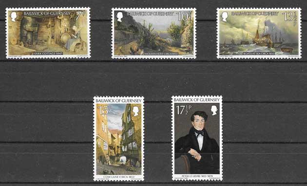 enviar paquetes desde - valor sellos navidad de Guernsey 1980