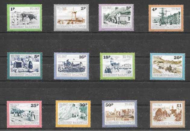 valor y precio Colección sellos Guersey-1982-01