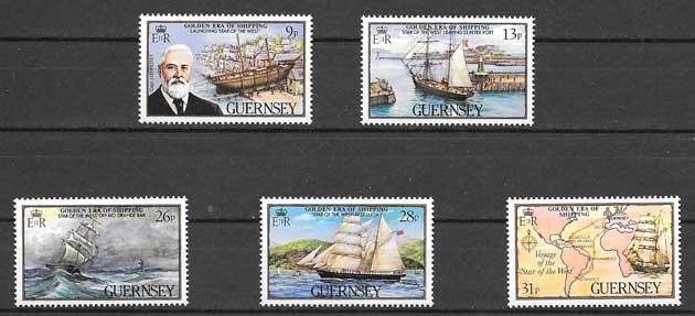 valor y precio Colección sellos transporte marítimo - mercante 1983