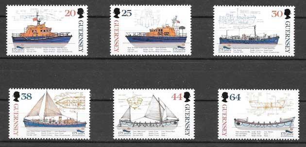 enviar paquetes desde - valor sellos transporte marítimo Guersey 1999