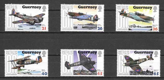 Sellos transporte aéreo Guernsey 2000