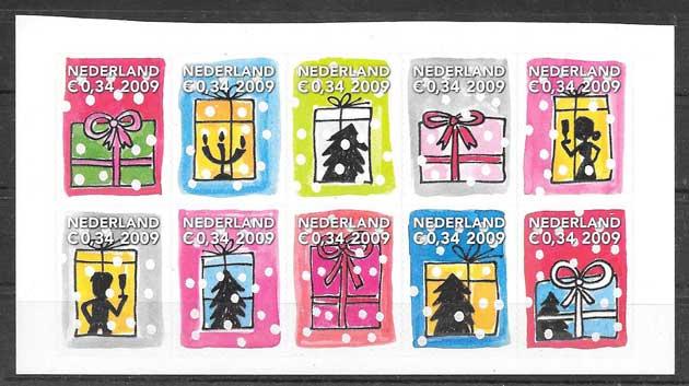 valor y precio Colección sellos navidad 2009 Holanda
